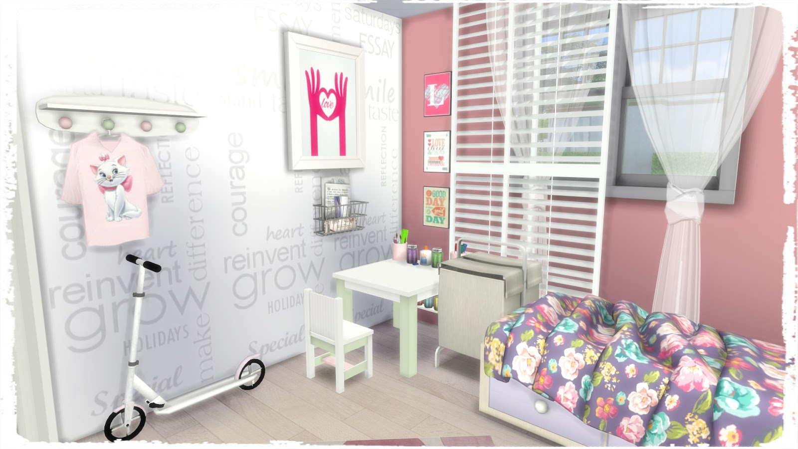 Sims 4 girls bedroom room mods for download dinha for Sims 4 bedroom ideas
