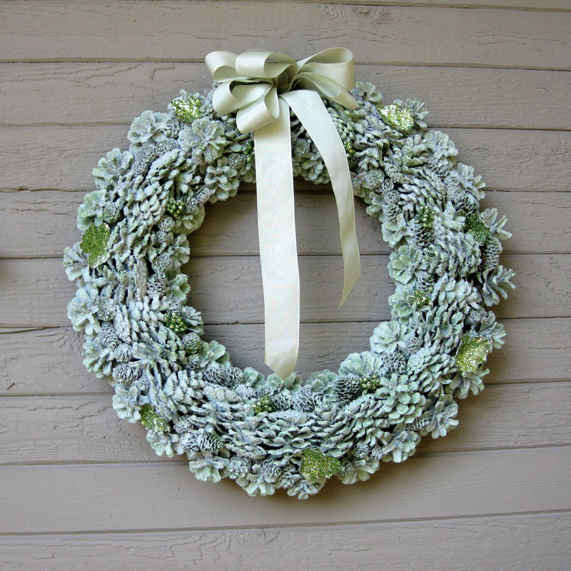 another bright idea pine cone wreaths a tutorial. Black Bedroom Furniture Sets. Home Design Ideas