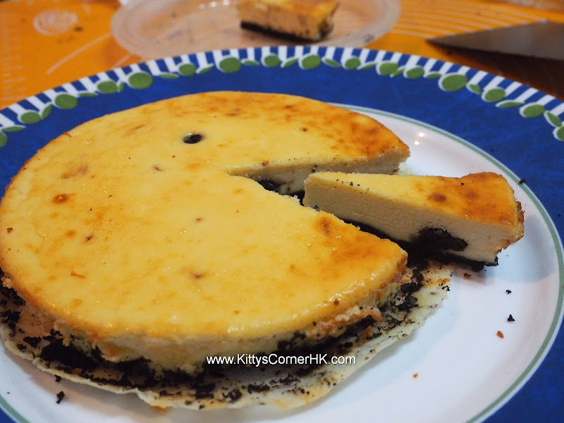 Baked Cheese Cake with Rum soaked Blueberry DIY recipe 酒香藍梅芝士蛋糕 自家烘焙食譜