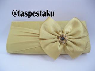 Handmade Tas Pesta Handbag Dompet Warna Emas Gold Cantik