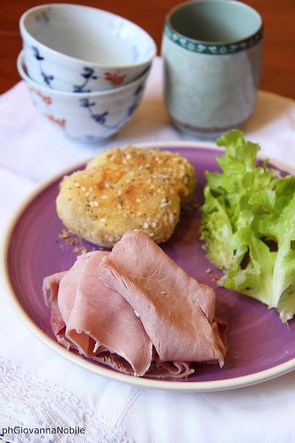 Crocchette di patate farcite con prosciutto cotto