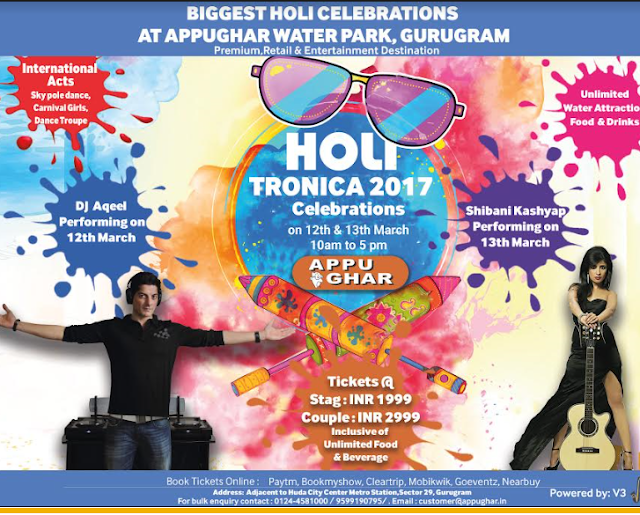 "Appu Ghar to host NCR's Biggest ""Holi Tronica"" Party"