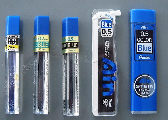 pentel blue leads