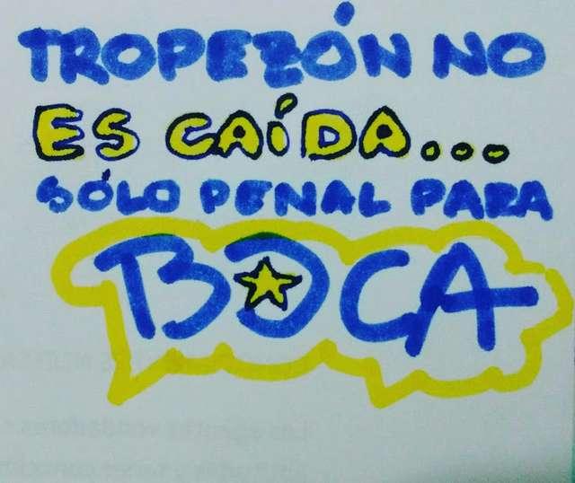 Tropezón no es caída... sólo penal para Boca!
