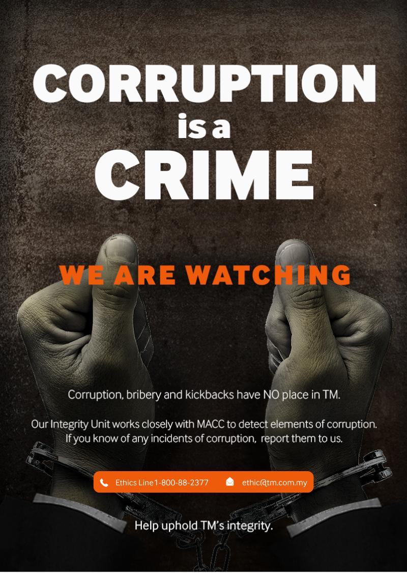 Corruption is a Crime