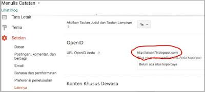 openID URL - Blogger