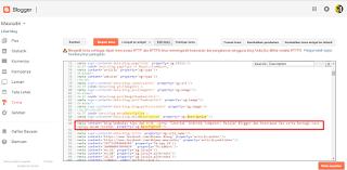 Cara membuat deskripsi pada kode html tema pada sebuah blog