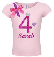 4th Birthday Shirt - Bubble Berry Sparkle