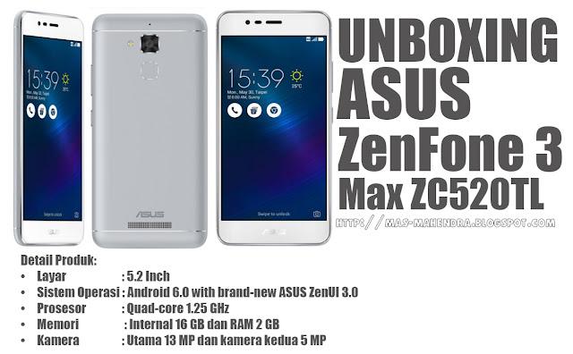 Asus ZenFone 3 Max ZC520TL-Glacier Silver