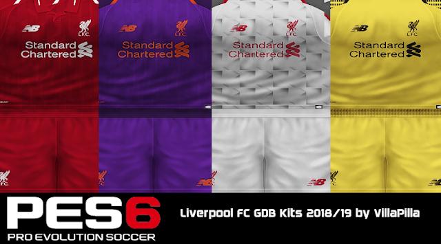 026e23c6614 PES 6 Liverpool FC GDB Kits 2018/19 by VillaPilla - Micano4u | PES ...