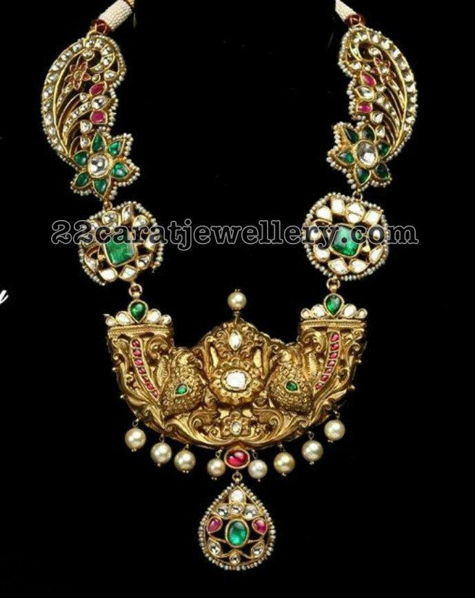 Victorian Style Polki Necklace