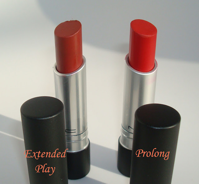 Mac Extended Play and Prolong Lipsticks