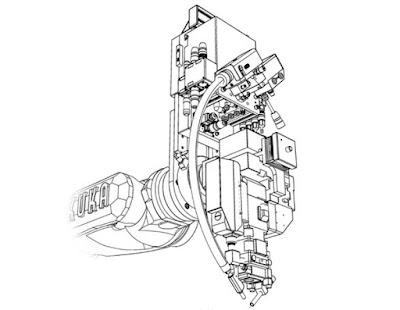 Вид лазерной сварочной головки AL03