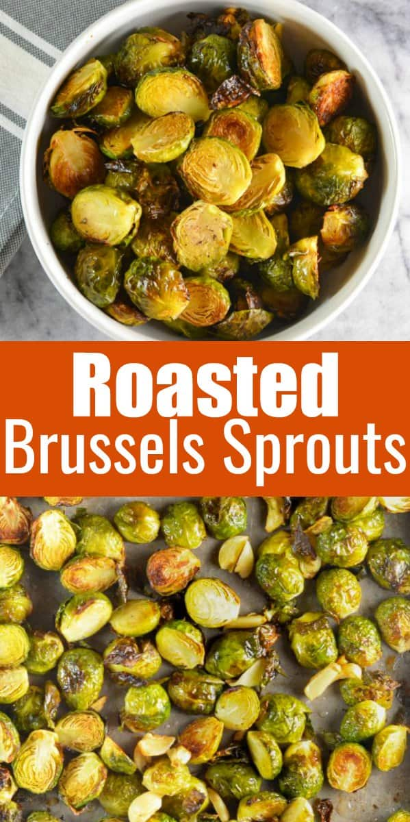 Roasted Brussels Sprouts with Garlic and Lemon makes it easy to eat your veggies. The secret is a hot oven to make roasting your veggies quicker to prevent brussels sprouts from becoming mushy or dry from Serena Bakes Simply from Scratch.