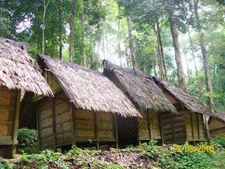 Tiang rumah Baduy menyesuaikan dengan permukaan tanah