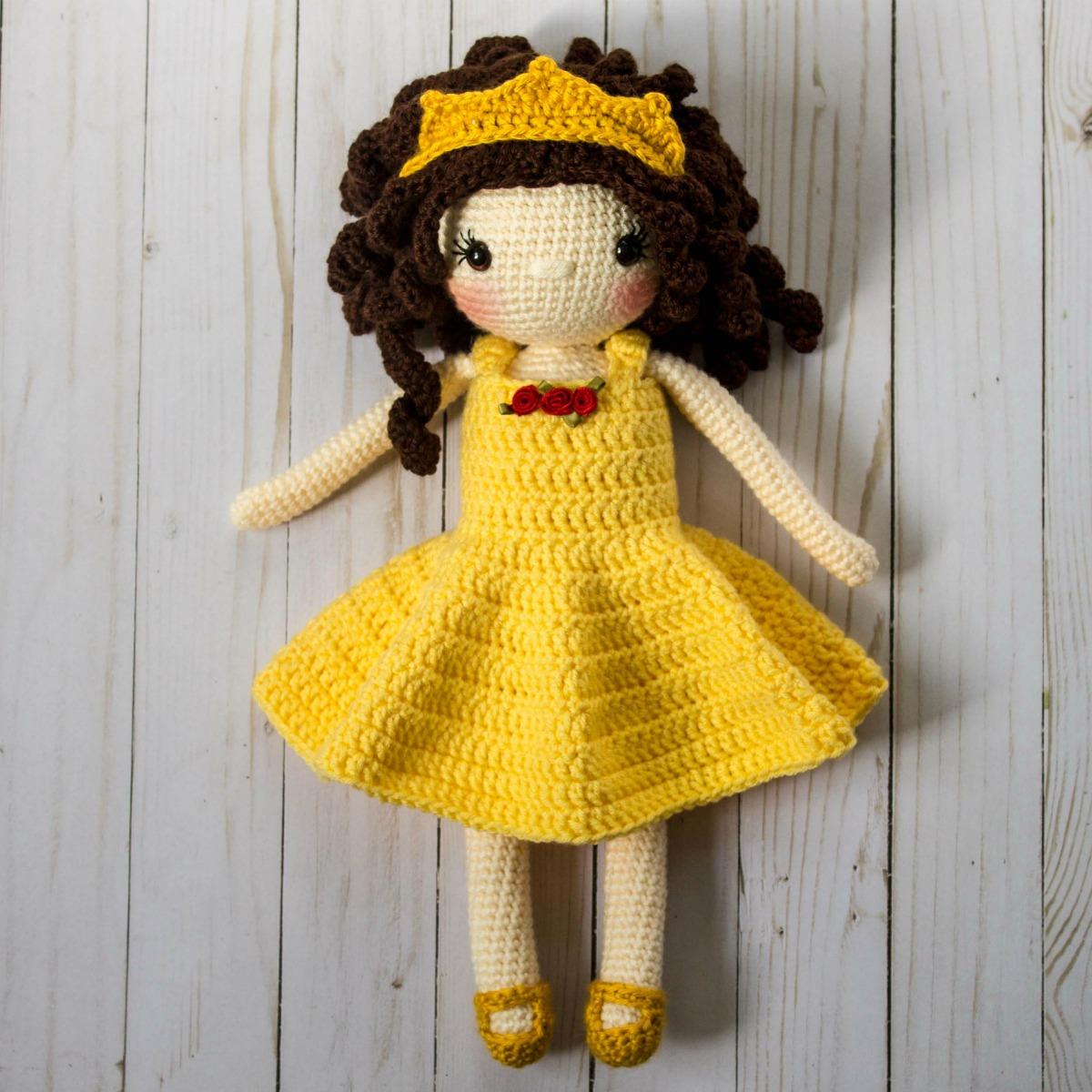 Crochet Princess Doll Pattern - thefriendlyredfox.com