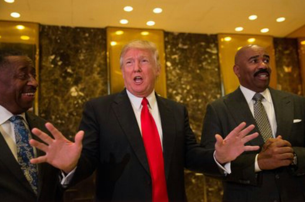 Steveharvey comes under fire over meeting with donald trump see pics