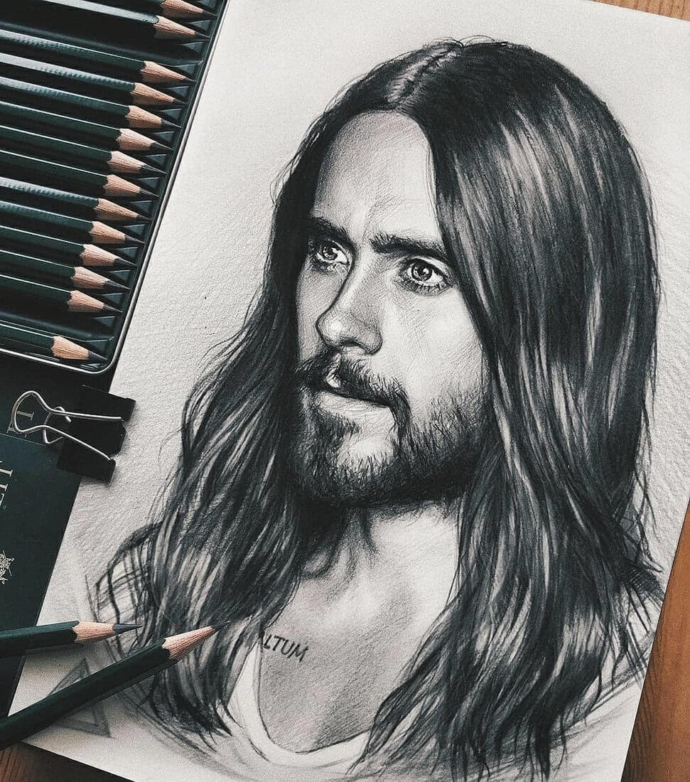 04-Jared-Leto-Michael-Naumets-Portraits-Drawings-of-Celebrities-and-Non-www-designstack-co