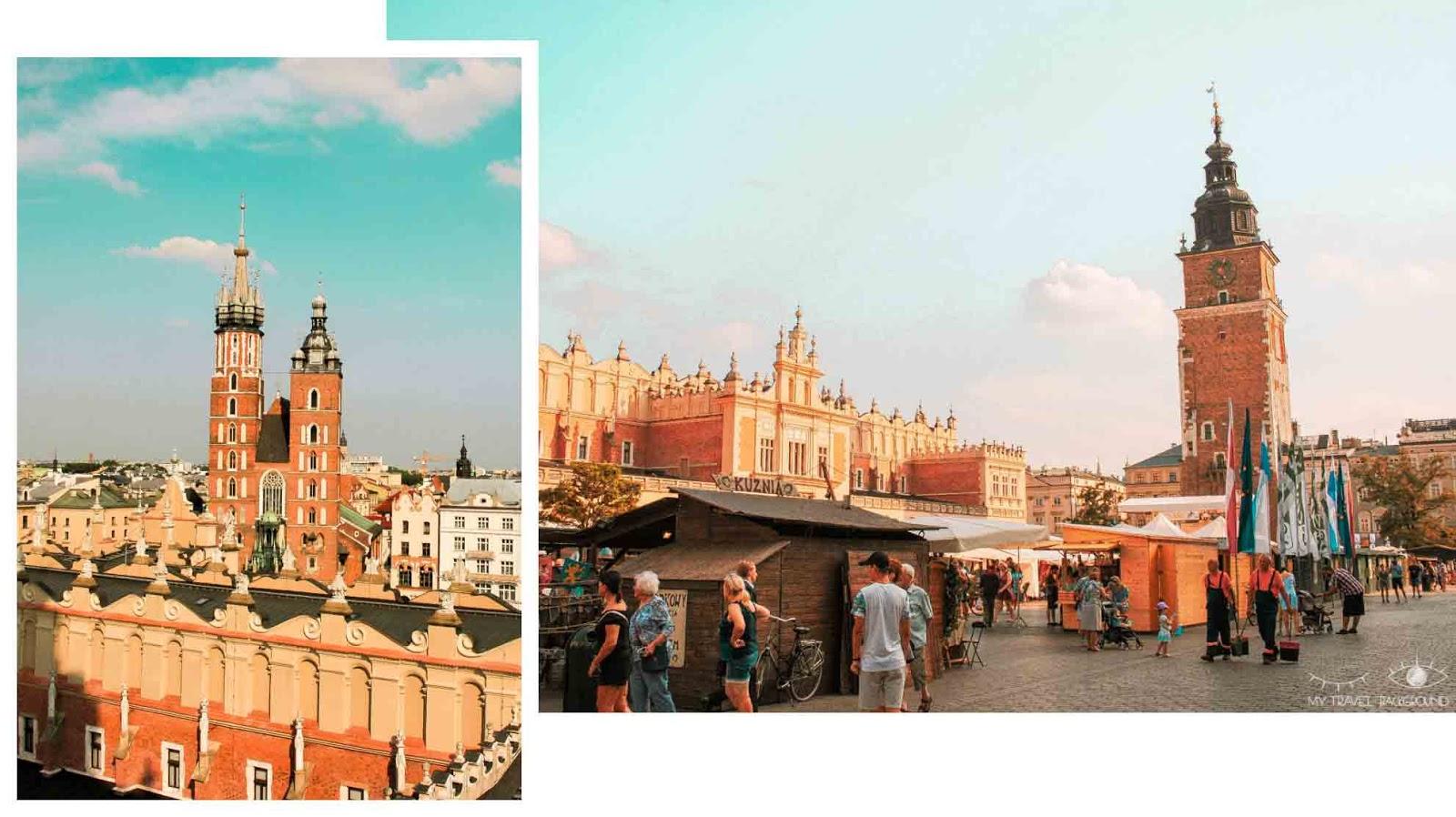 My Travel Background : Cracovie en Pologne, mon top 10 pour visiter la ville - Rynek Glowny, Basilique Sainte Marie, Hôtel de Ville