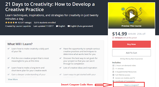 21 Days to Creativity: How to Develop a Creative Practice - Iftikhar University