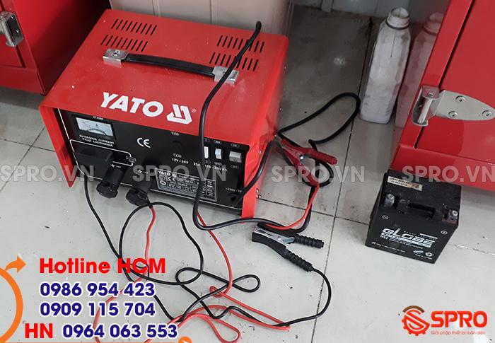Mua máy sạc bình ắc quy xe máy 12V yato giá rẻ tại tp HCM
