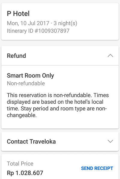 pengalaman booking hotel di traveloka