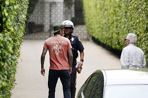 David Beckham has had an accident with his son
