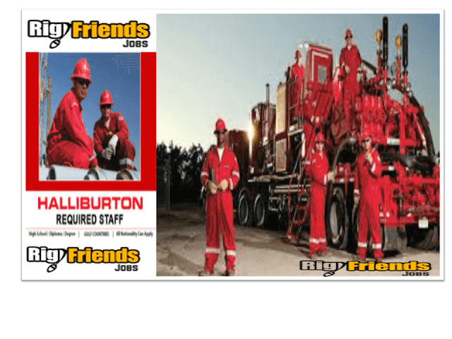 Immediate Openings – Full Crew Needed For Halliburton Drilling Company