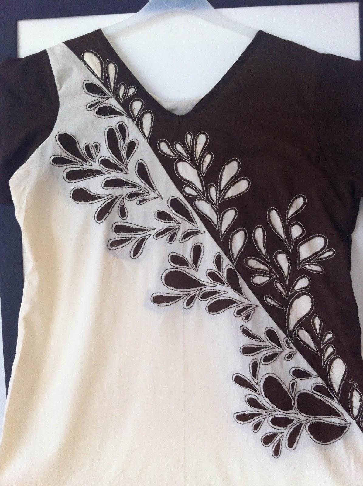 Sew Simple Dress: Reverse appliqué