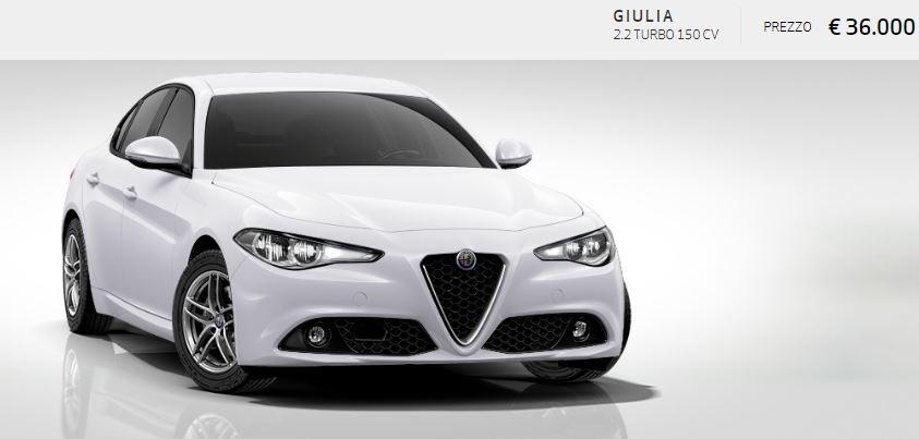Alfa Romeo Giulia colore Pastello-Bianco Alfa