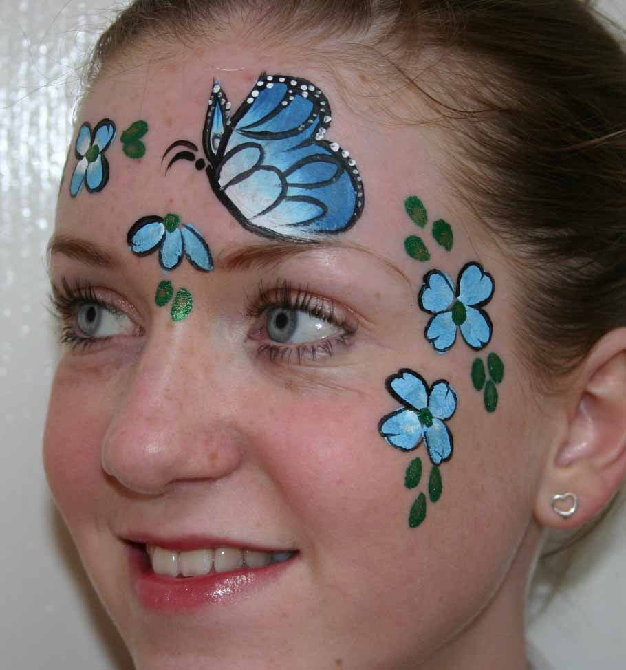 Butterfly Face Painting Designs
