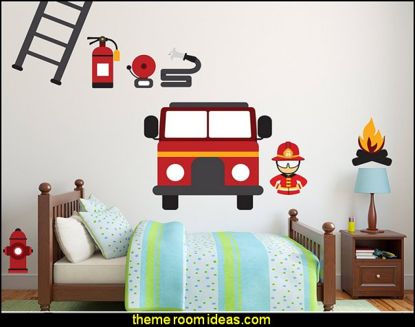 Firefighter Station Rescue Team  wall decals