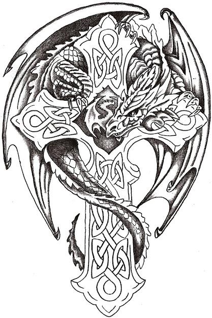 Dragon Cross Tattoo