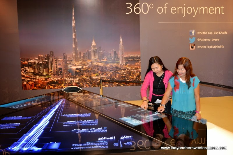 facts and figures of Burj Khalifa at At The Top entrance lobby