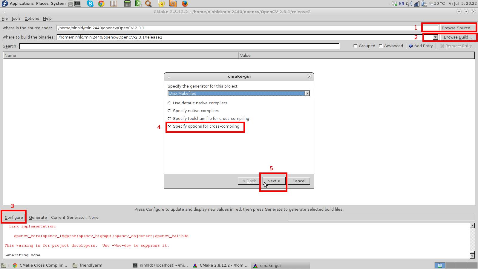 Build OpenCV cho board nhúng FriendlyARM Mini2440