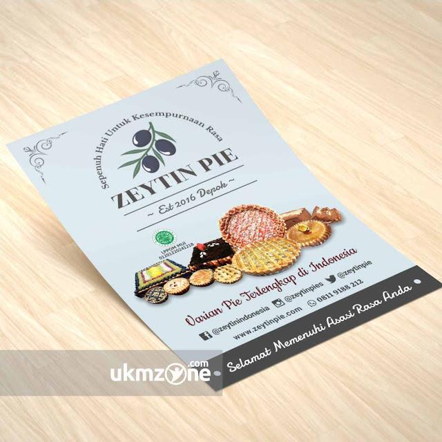 Contoh brosur flyer makanan kue kuliner usaha kecil UMKM IKM UKM