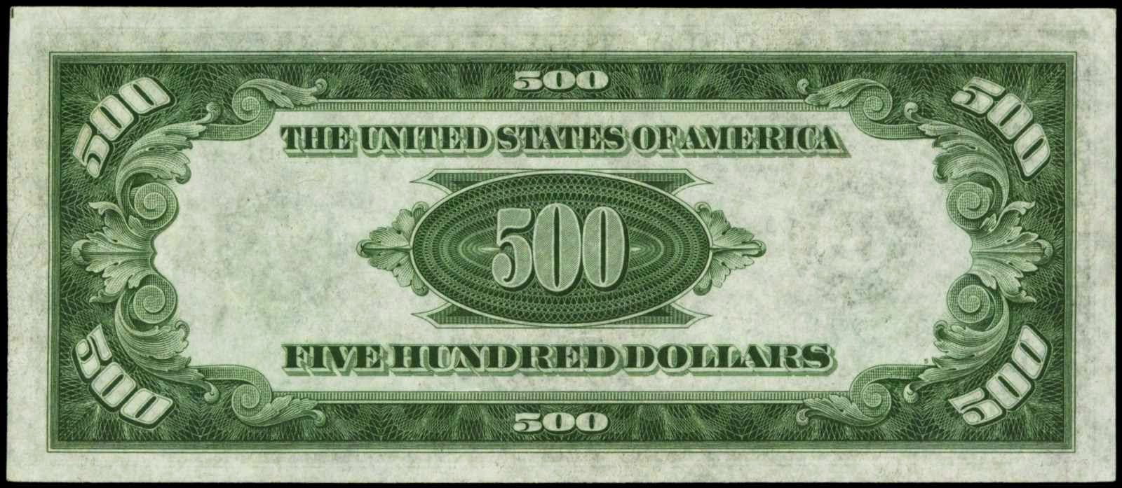 Five hundred dollar bill 1934