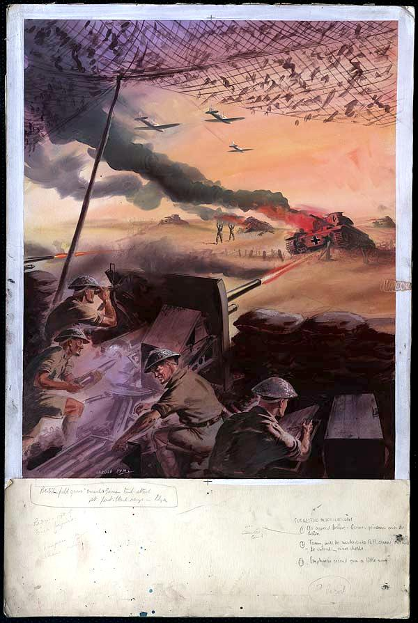 battle in north africa propaganda poster