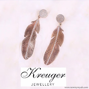 Crown Princess Victoria wearring Kreuger Jewellery Summer Feather Earrings