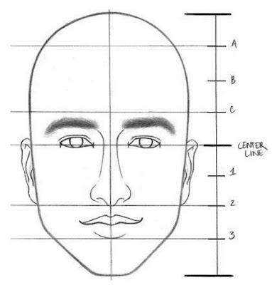 teknik menggambar telinga sketsa wajah