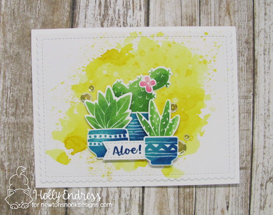 Aloe! Cactus Card by Holly Endress | Cultivated Cacti Stamp set by Newton's Nook Designs #newtonsnook #handmade