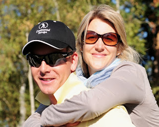 Henrik having fun with his wife Emma