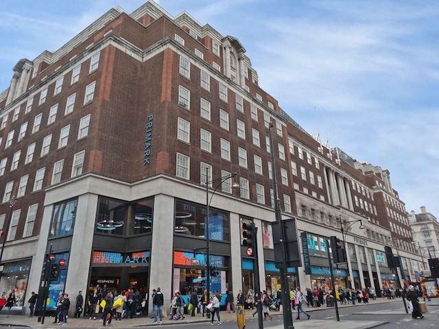 Lojas na Oxford Street em Londres