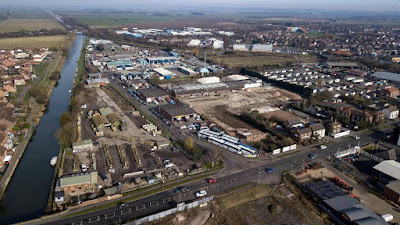 Bird's eye view of Brigg in February 2019 by Neil Stapleton  - showing the Island Carr industrial estate