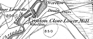 Croston Close Lower, OS map, 1848.