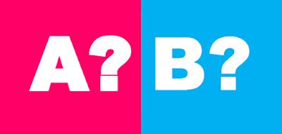 Bild på bokstäverna A eller B