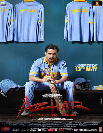 Poster Of Azhar 2016 Hindi 720p HDRip x264 Watch Online Free Download Worldfree4u