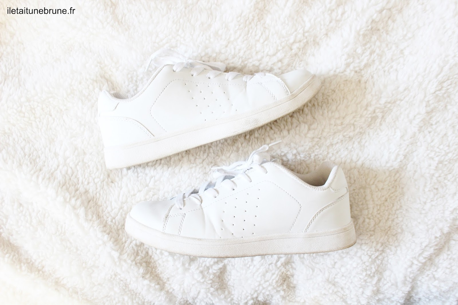sneakers blanches la halle
