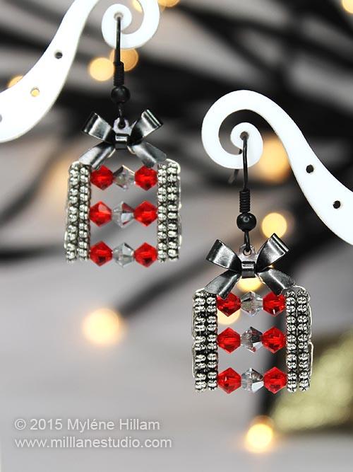 Christmas Gift Package earrings