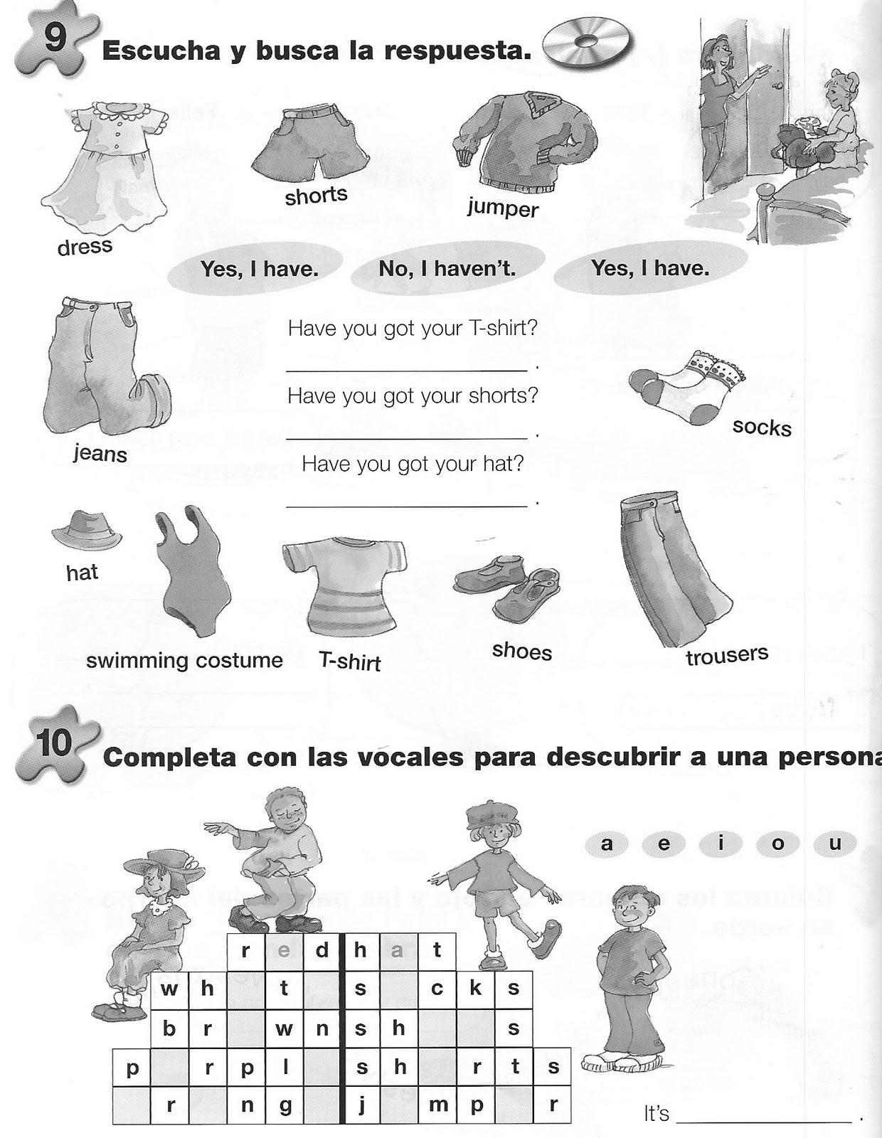Fichas De Ingles Ficha Clothes 12 Clothes Worksheet